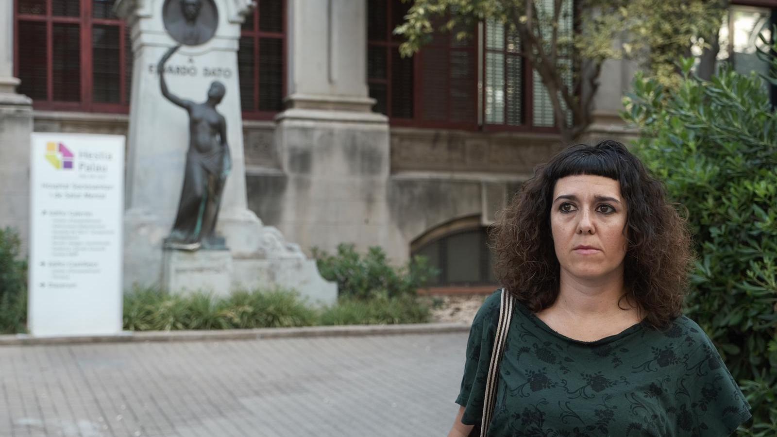 La Beatriz Martín, aquest divendres, davant de l'Hestia Palau