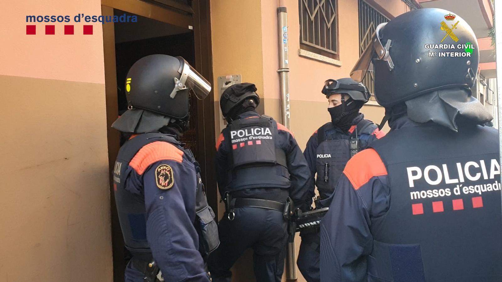 Una actuació dels Mossos en el marc d'aquesta investigació. / MOSSOS D'ESQUADRA