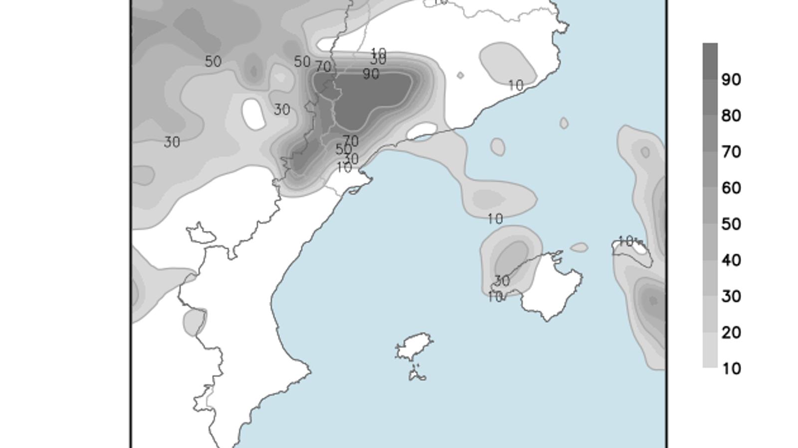 Temperatura sense canvis i cel ennigulat a les Balears