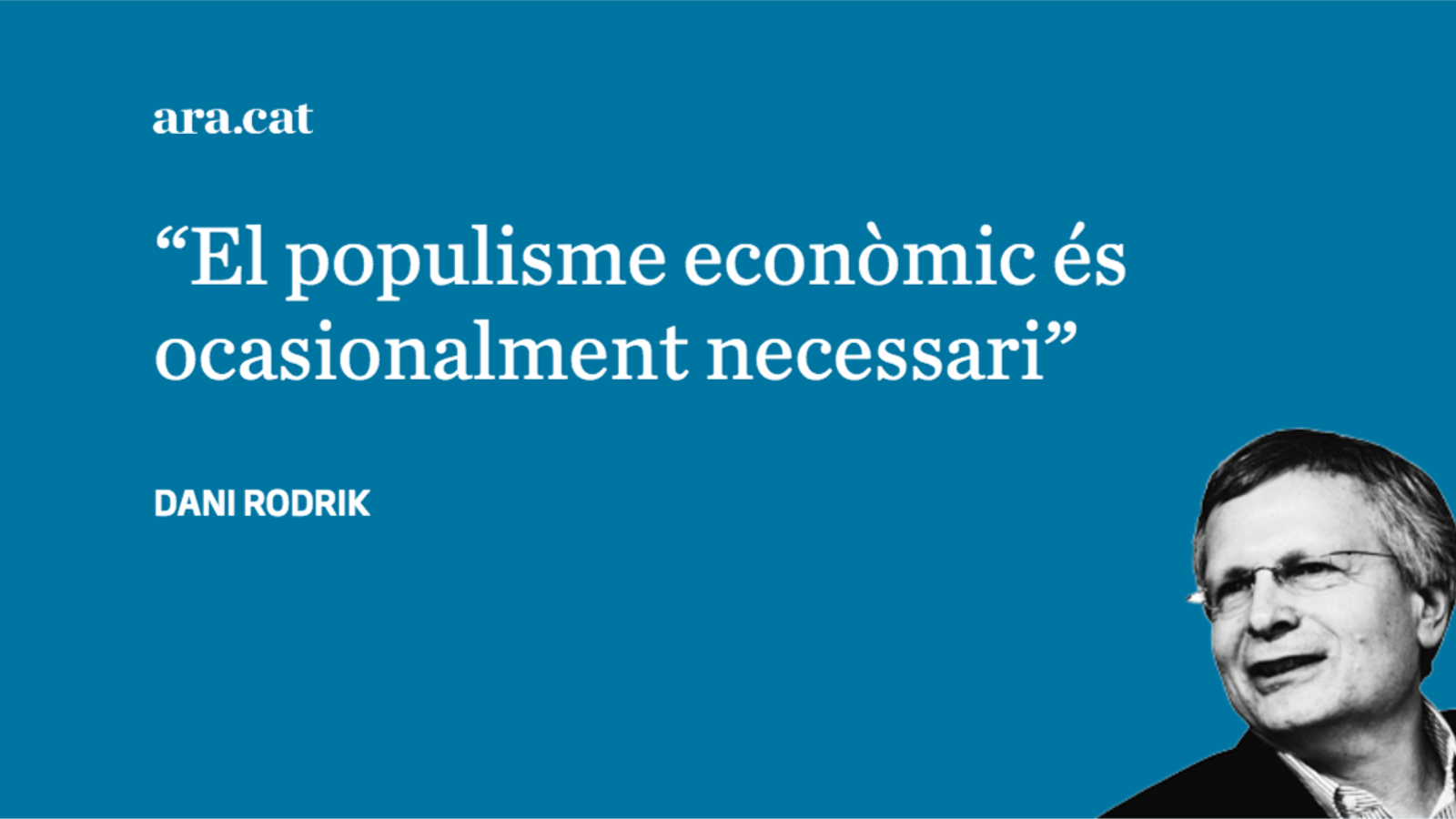 ¿Populisme econòmic contra populisme polític?