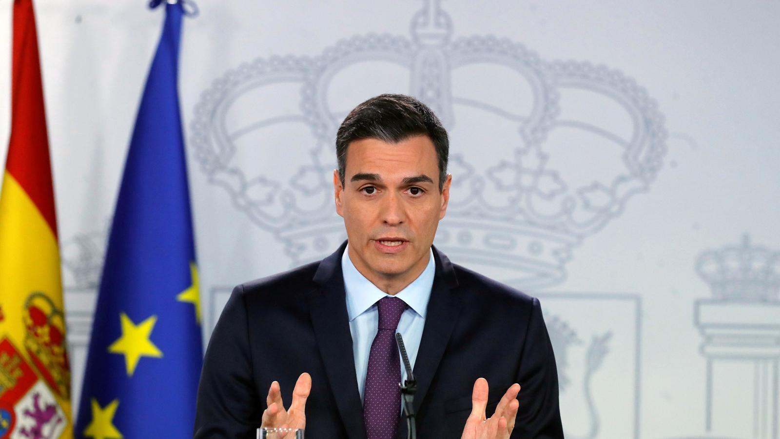 Pedro Sánchez durant la roda de premsa d'aquest divendres des de la Moncloa després de l'últim consell de ministres de l'any