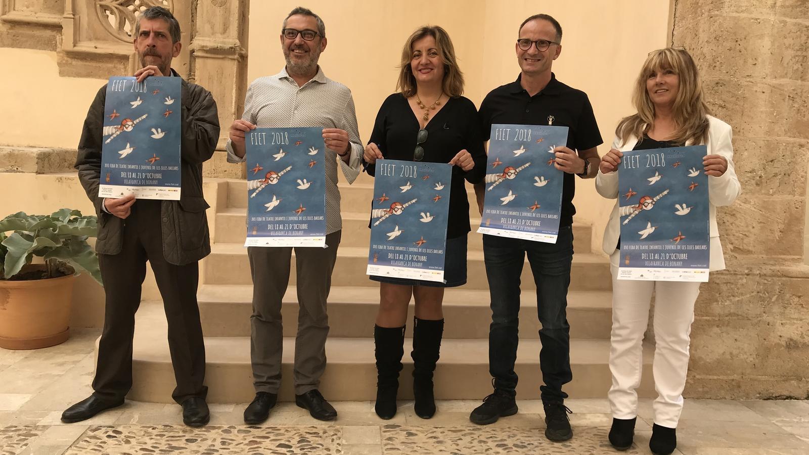Francesc M. Rotger, Rafel Creus, Fanny Tur, Jaume Gomila i Catalina Bauzà han presentat la FIET 2018