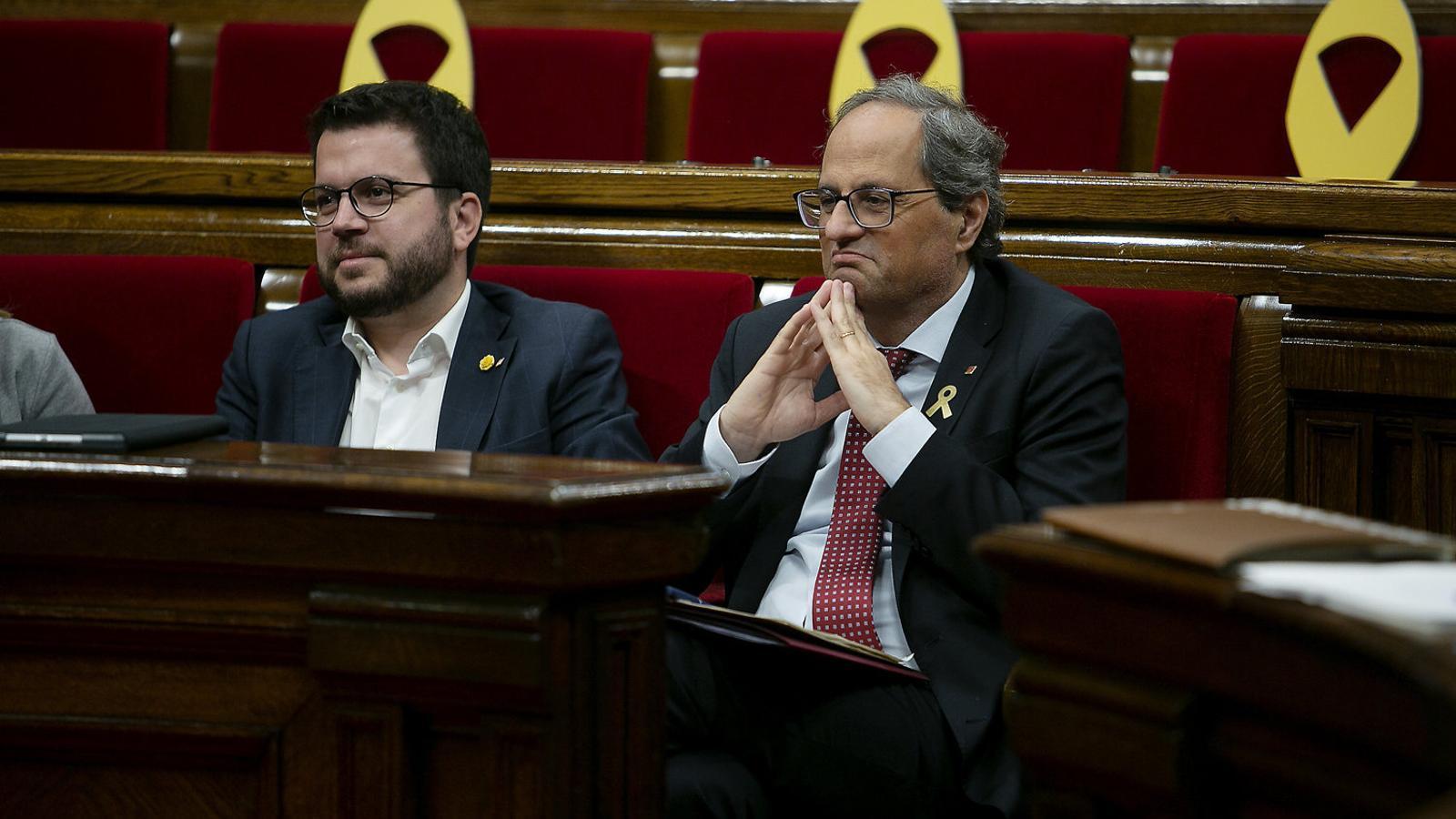 JxCat i ERC evidencien la fràgil unitat de l'independentisme