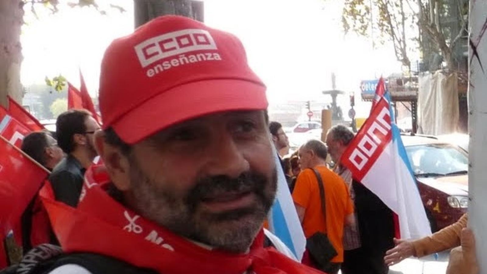 Imatge de Rafa Pons en una manifestació.