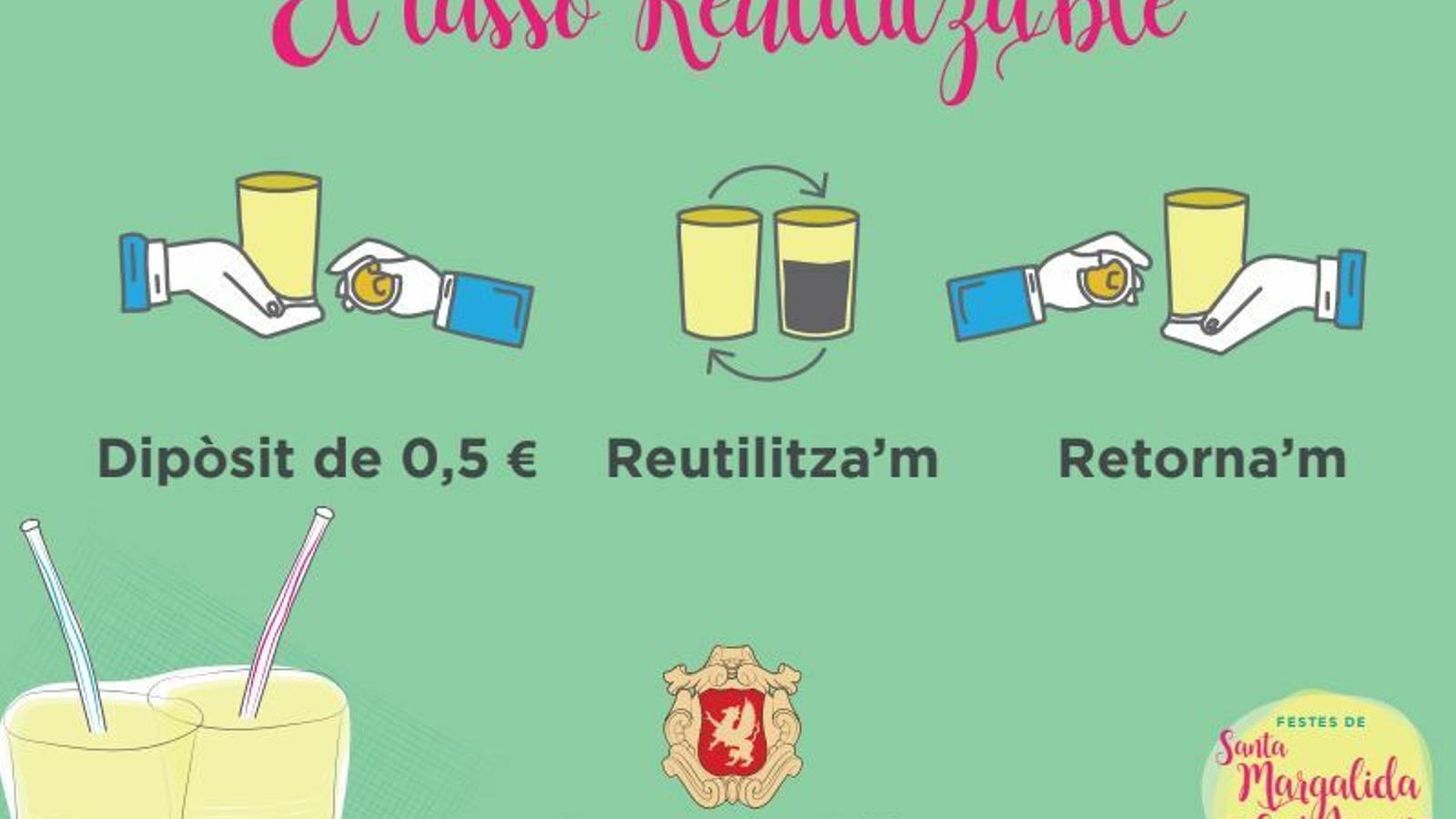 Sa Pobla promou els tassons reutilitzables per eliminar els plàstics d'un sol ús