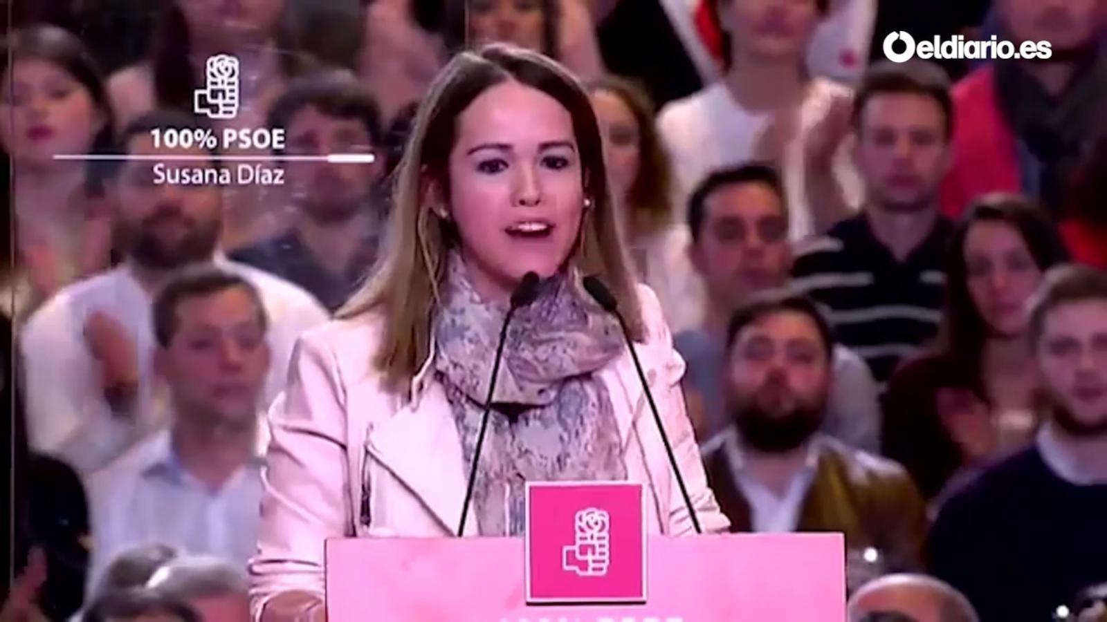 Intervenció d'Estela Goikoetxea a l'acte de presentació de la candidatura de Susana Síaz per liderar el PSOE