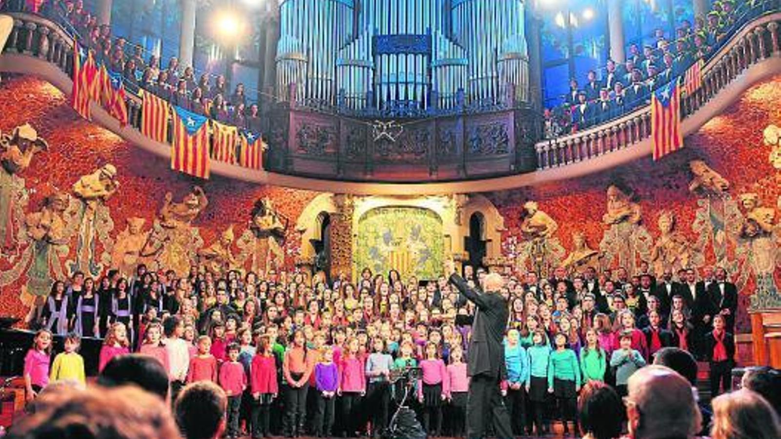 Concert de l'Orfeó Català el passat 26 de desembre al Palau de la Música