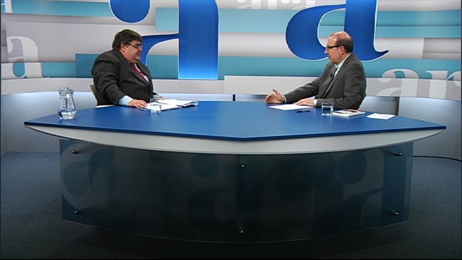 Entrevista d'Antoni Bassas a Xavier Melgarejo, per 'Ara TV Premium'