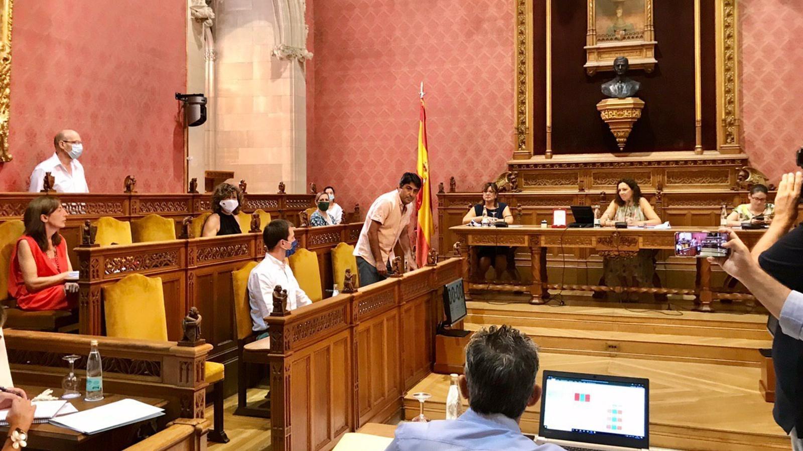 Joan Llodrà durant la presa de possessió al Consell de Mallorca