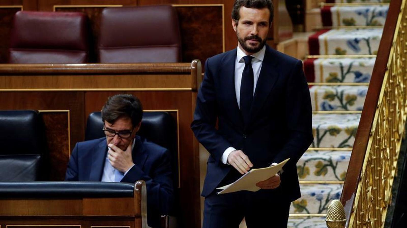 El líder del PP, Pablo Casado, al Congrés