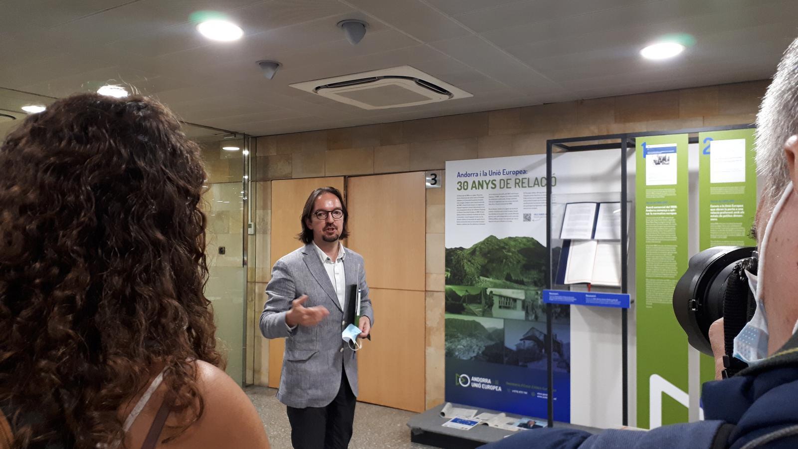 Landry Riba és secretari d'Estat d'Afers Europeus