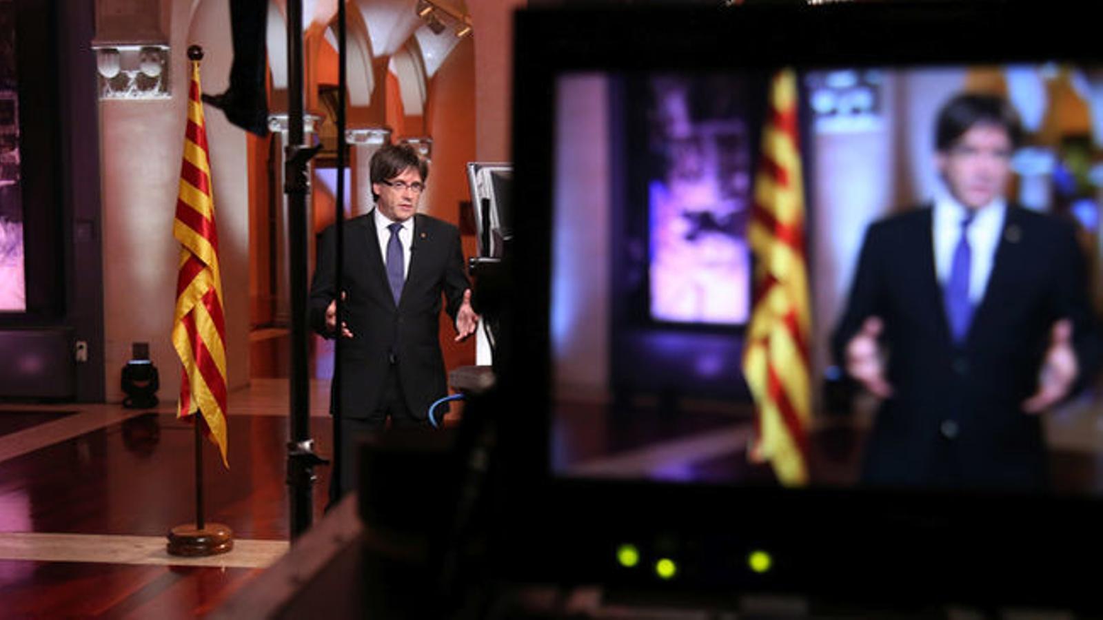 El discurs del president, Carles Puigdemont, en directe