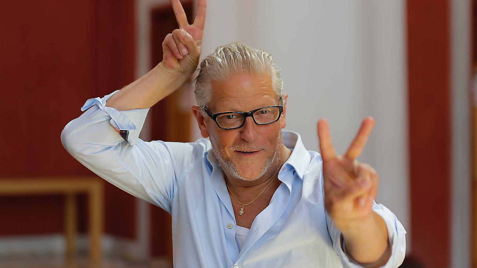 Jan Fabre ahir al Lliure, on segueix la gira de la seva companyia.