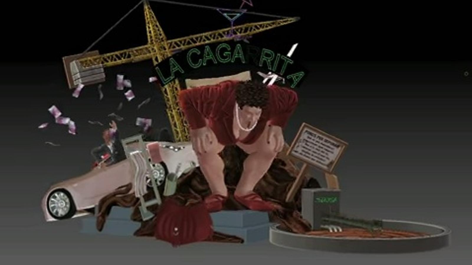 'La Caga Rita': la primera falla virtual en 3D de la història