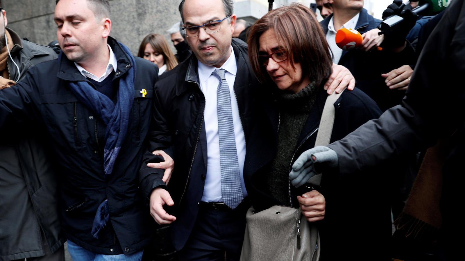 Jordi Turull, just abans d'entrar al Suprem per conèixer la decisió de Llarena sobre si el torna a enviar a la presó un cop processat