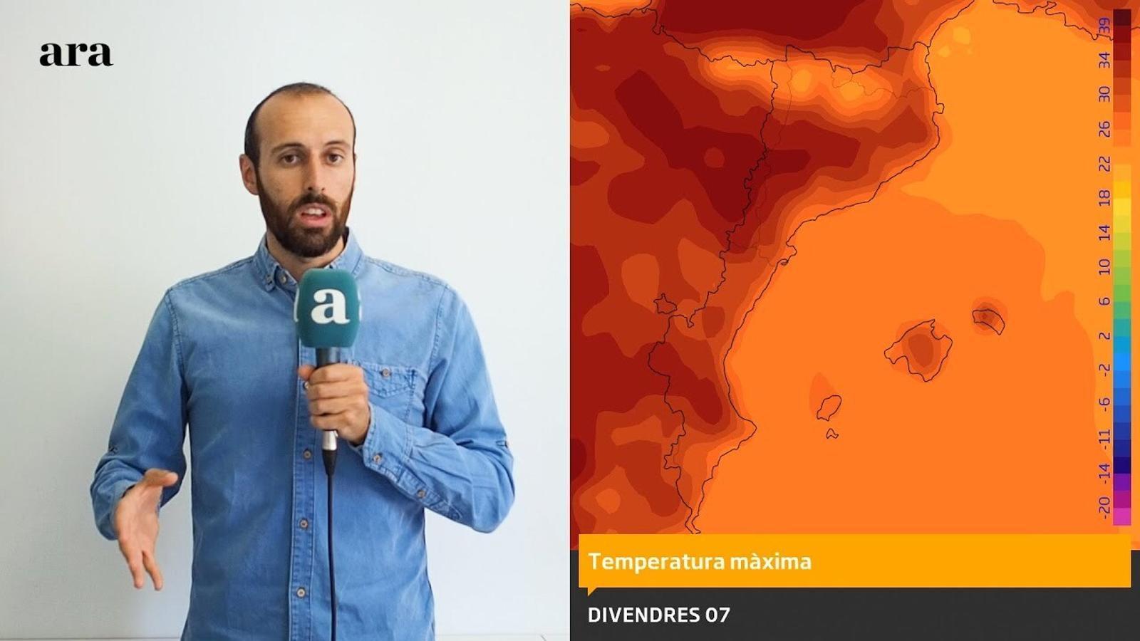 La méteo: tornen els 40 ºC aquests propers dies