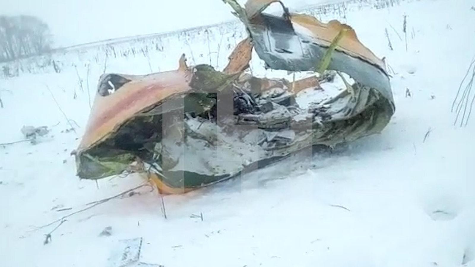 Primeres imatges de l'avió sinistrat a Moscou