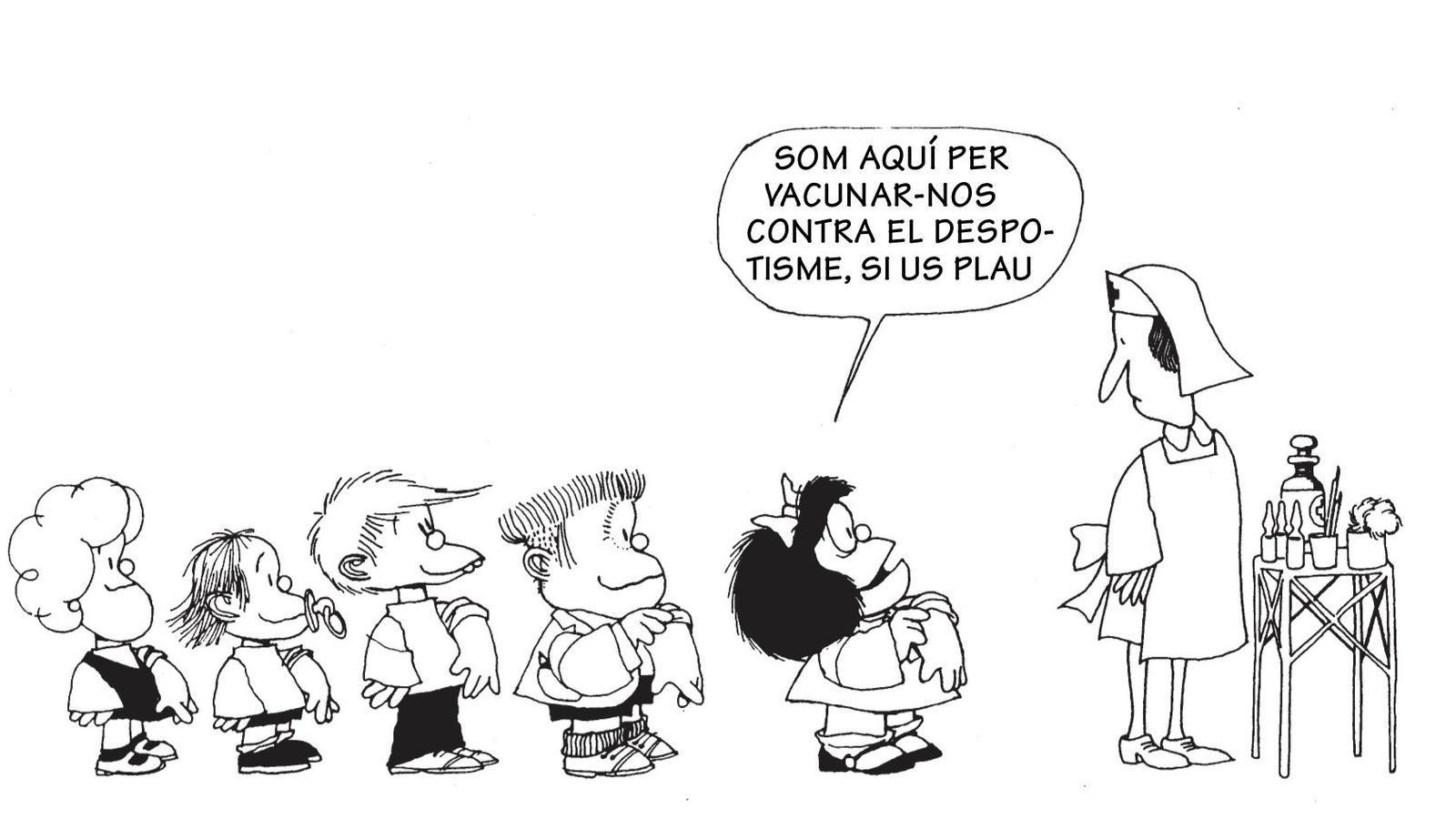 El dibuixant Quino, el pare de Mafalda