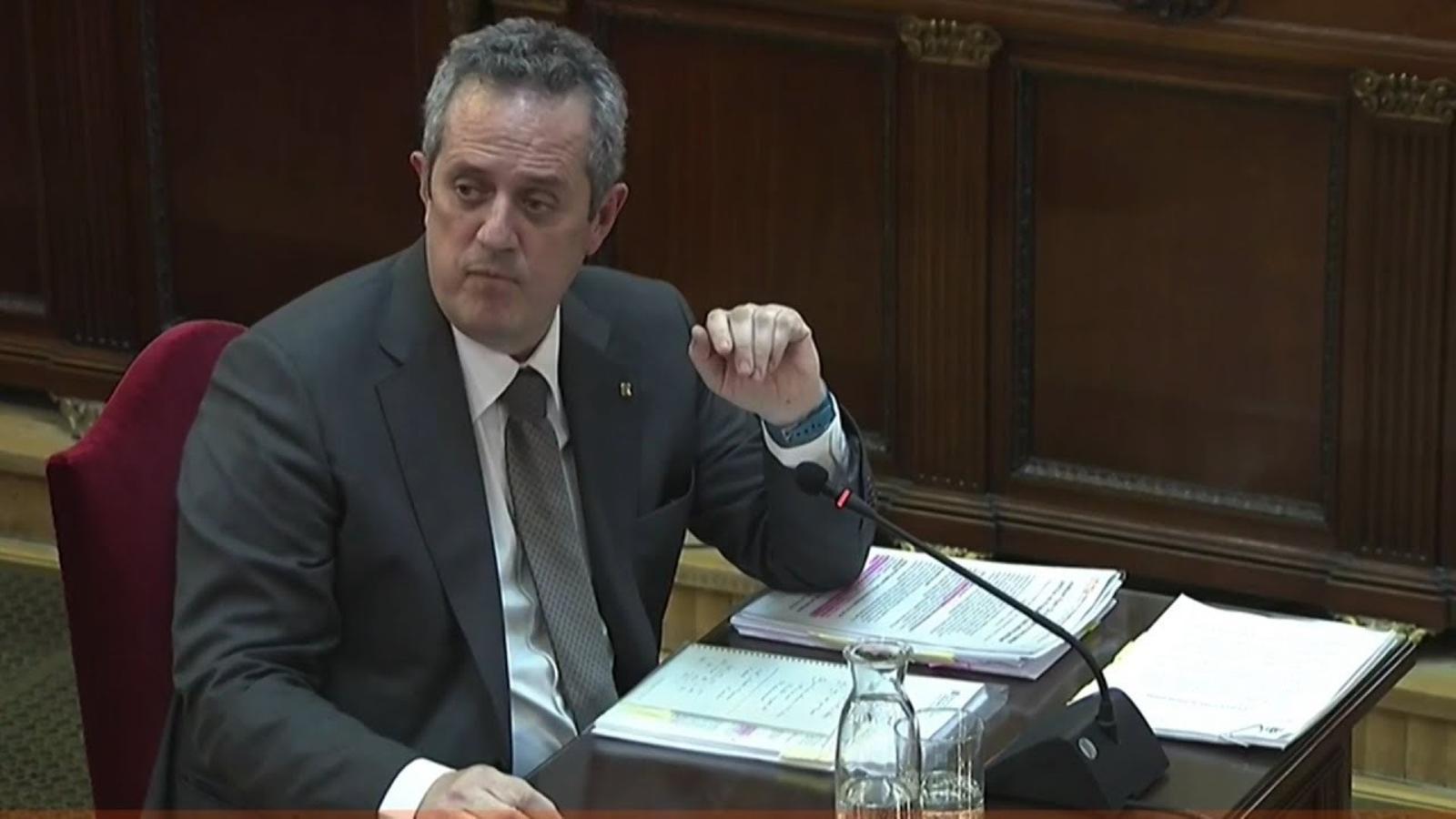 """Forn: """"No s'exerceix cap acció des del meu departament en favor del referèndum"""""""
