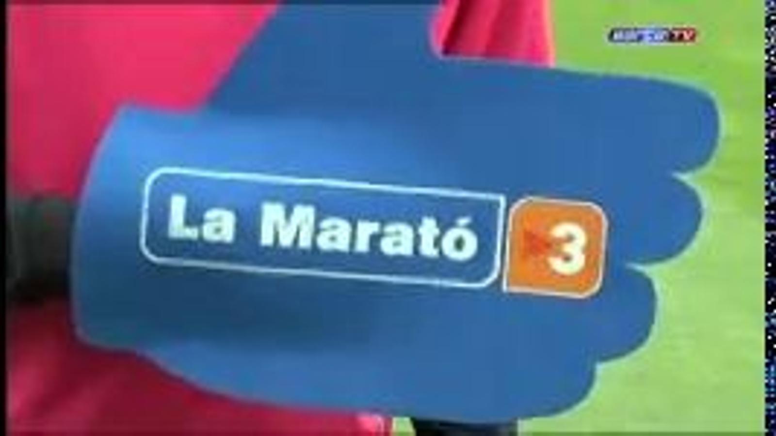 Els jugadors del Barça col·laboren amb 'La Marató' de TV3 del 2010