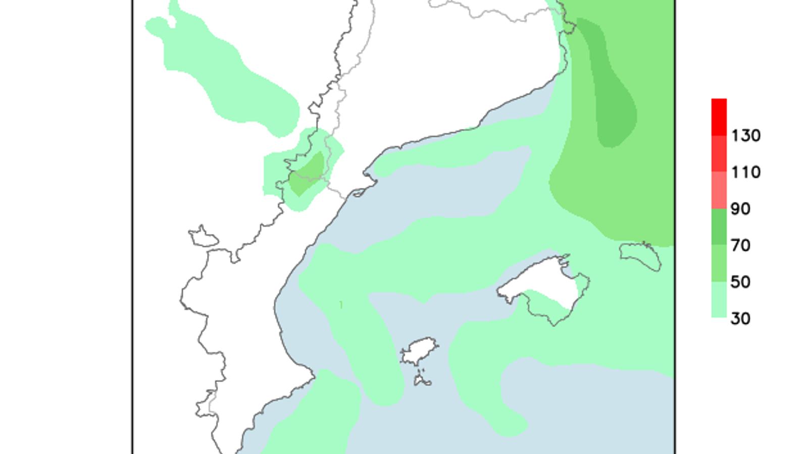 Intervals de vent fort i temperatures estables a les Balears