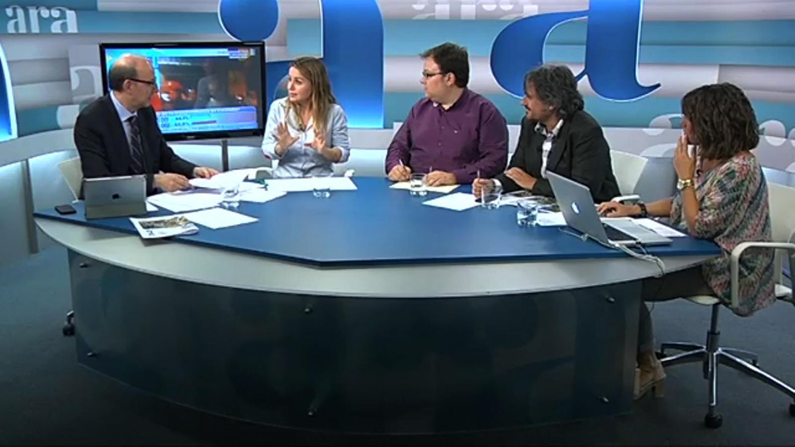 Especial Diada 2013 a l'Ara TV, amb Antoni Bassas: l'anàlisi de Mònica Planas de la retransmissió televisiva de la Via Catalana