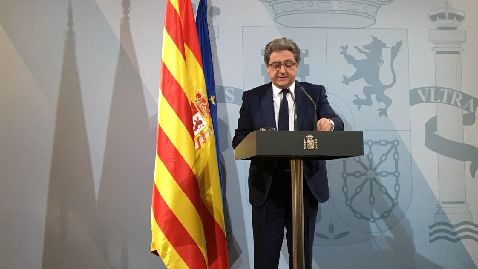 Enric Millo, a la roda de premsa posterior al consell de ministres