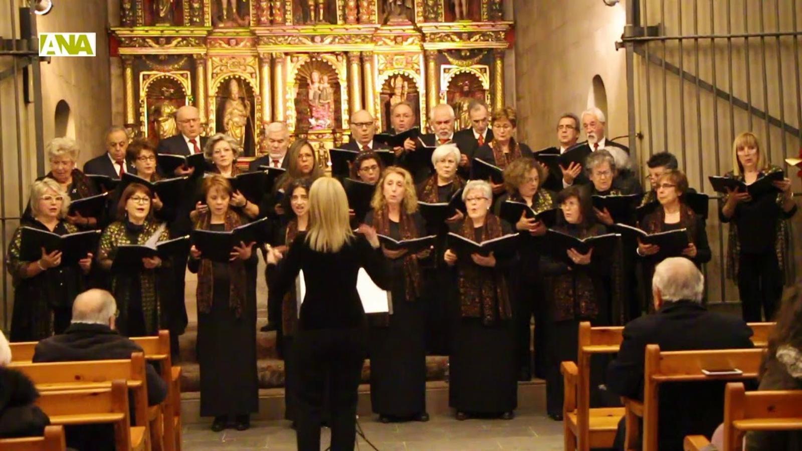 Petit resum del concert de Nadal de la Coral Casamanya i l'Orfeó Andorrà a Ordino