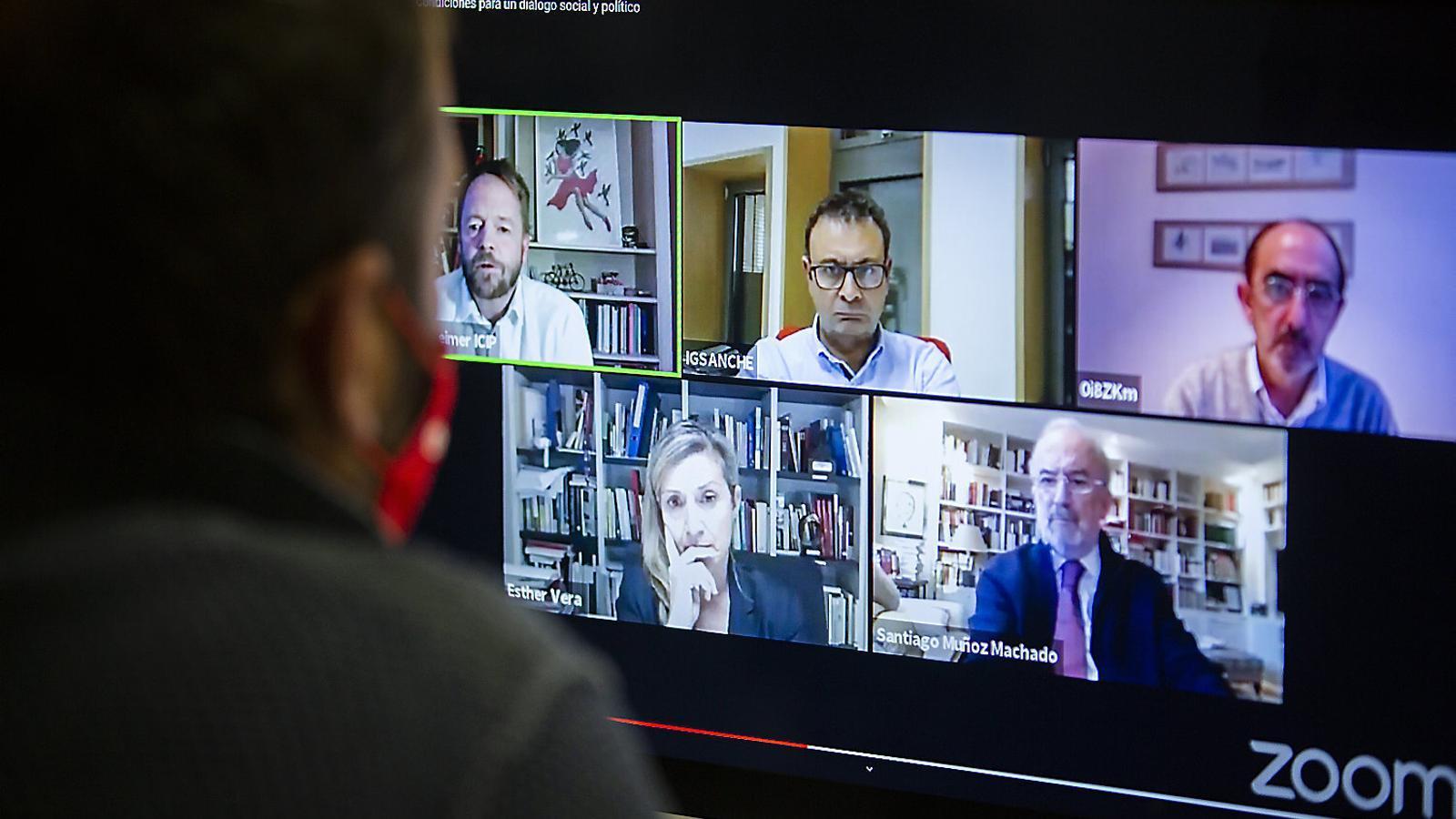 Imatge del col·loqui virtual organitzat per l'ICIP.