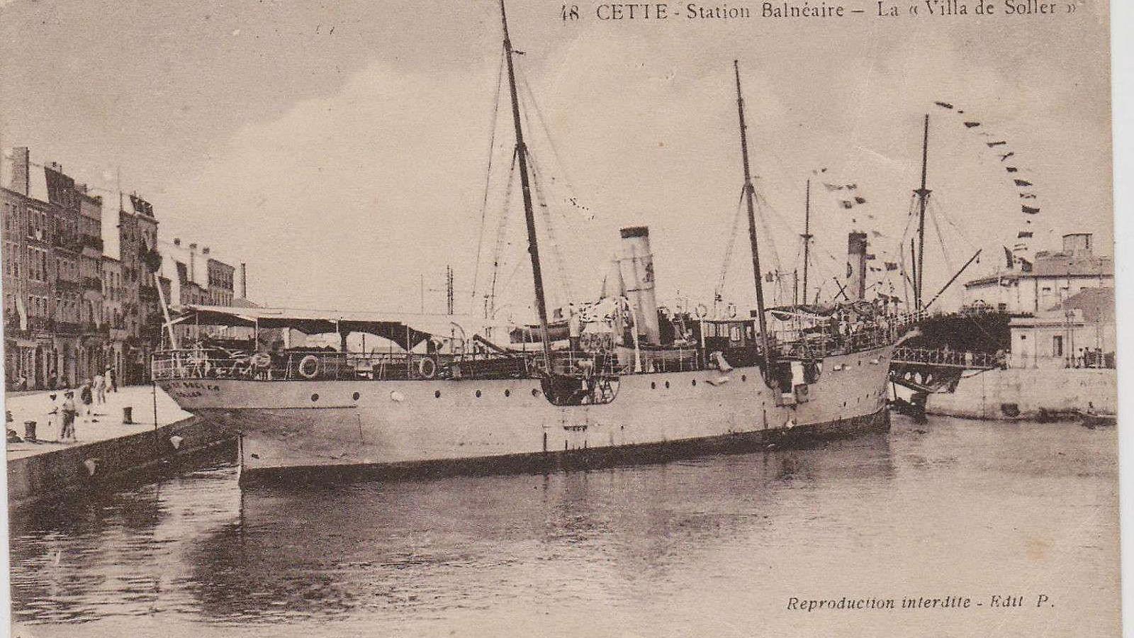 El maig de 1918 el vapor Villa de Sóller va ser enfonsat per un submarí alemany a prop de la costa de Toulon.