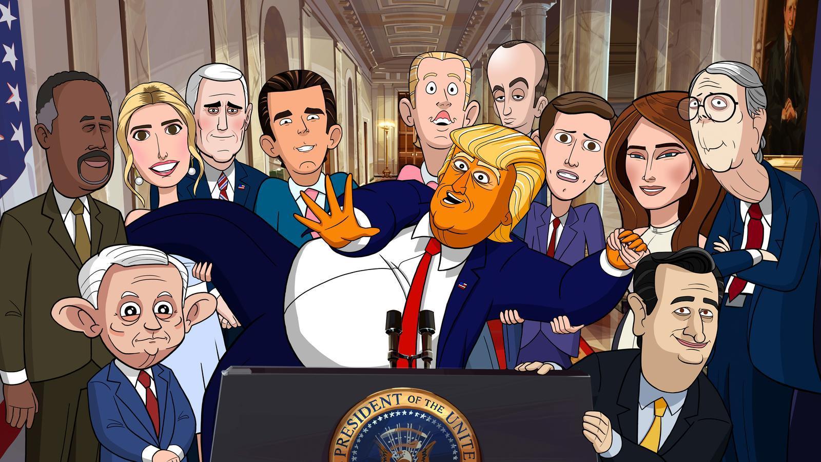 La sàtira sobre Tump 'Animado presidente' arriba a Movistar+