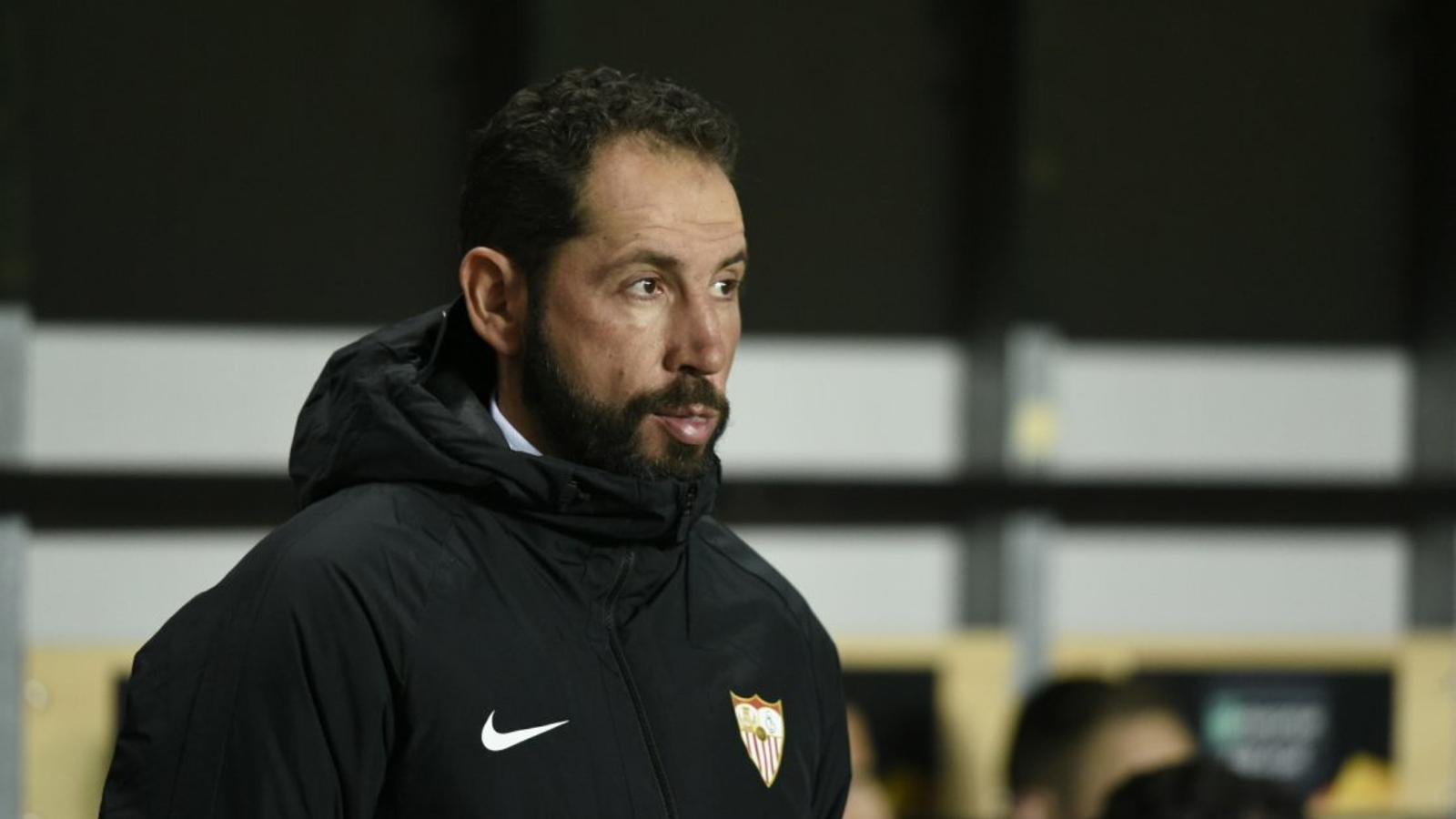 Pablo Machín durant el seu últim partit amb el Sevilla