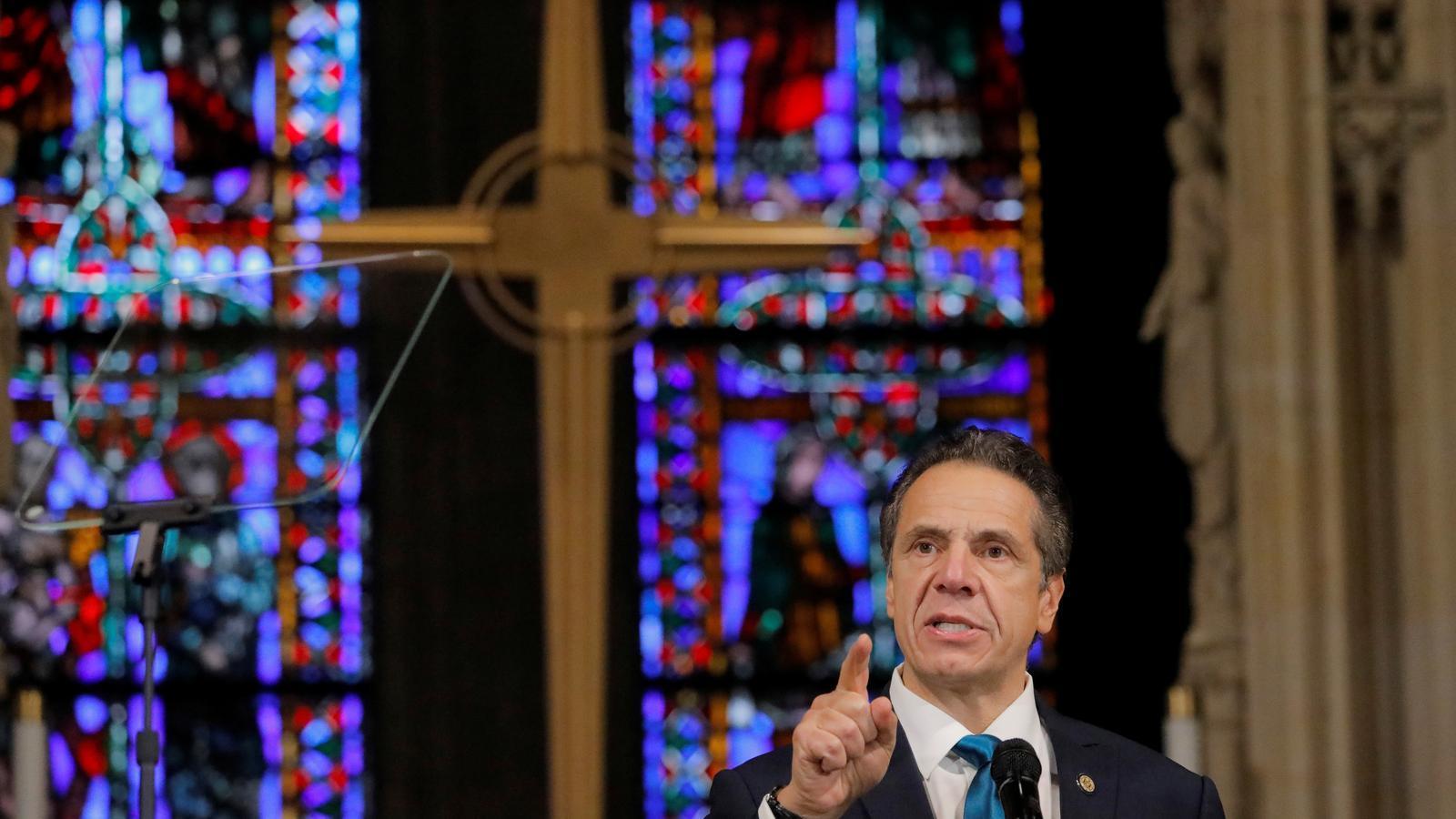 El governador de Nova York, Andrew Cuomo, feia un discurs sobre covid-19 a l'església Riverside de Manhattan el passat 15 de novembre.