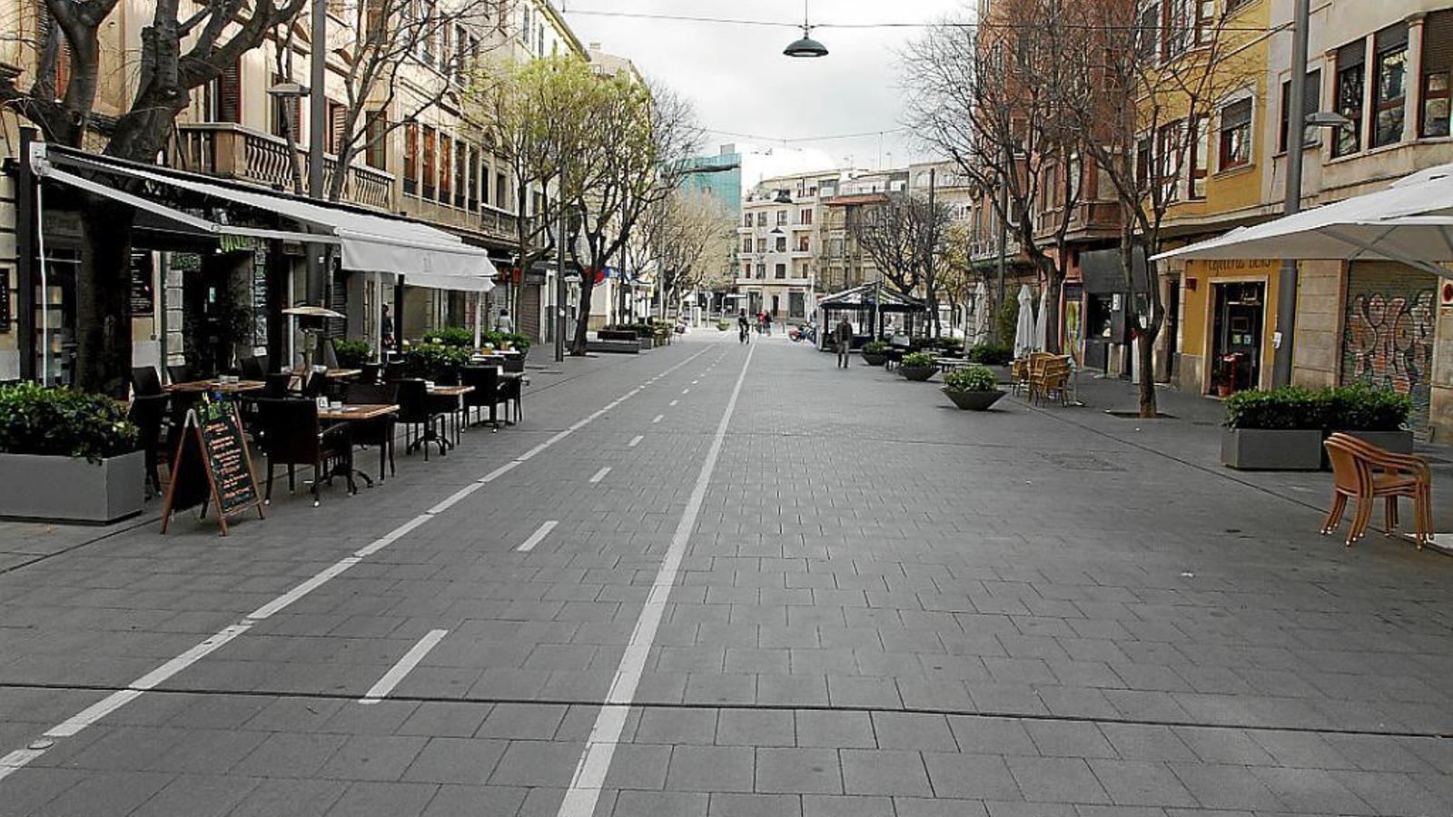 El carrer Blanquerna, en una imatge d'arxiu