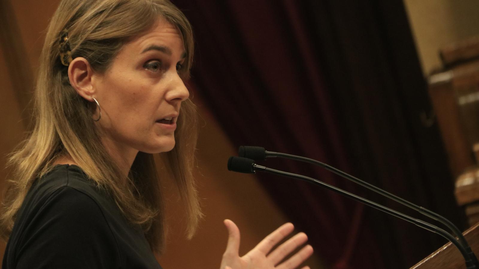 La portaveu d'En Comú Podem, Jéssica Albiach, en una sessió al Parlament de Catalunya