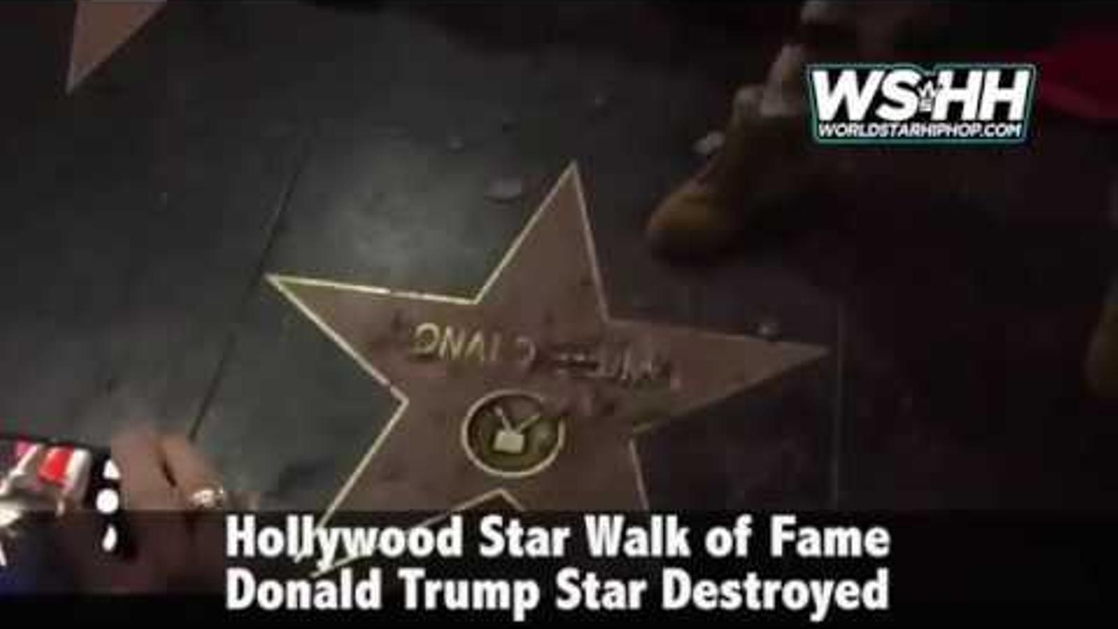 El vídeo del moment de la destrucció de l'estrella de Trump.