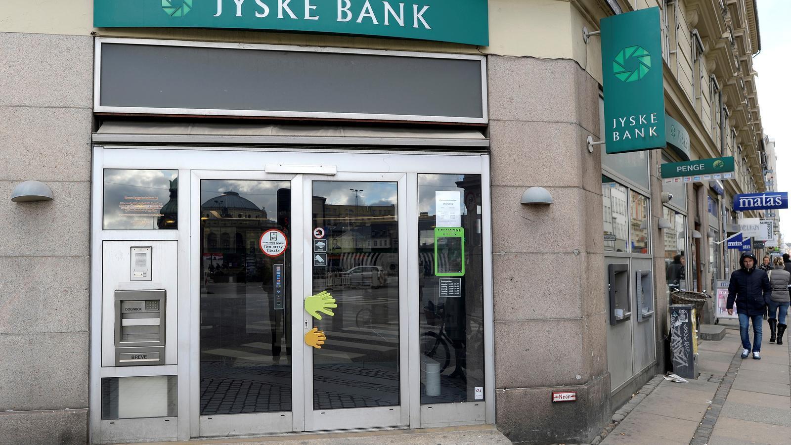 Una oficina del banc danès Jyske Bank a Copenhaguen.
