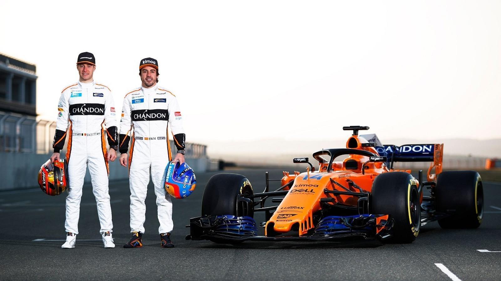 Presentació del McLaren amb el que Alonso i Vandoorne competiran aquest 2018