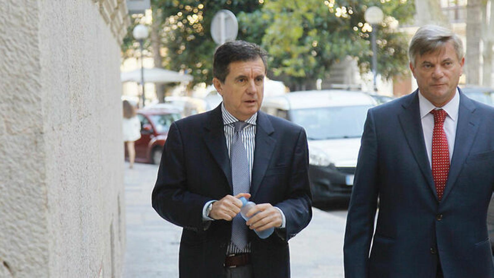 Jaume Matas i el seu advocat, Josep Zaforteza, en una imatge d'arxiu