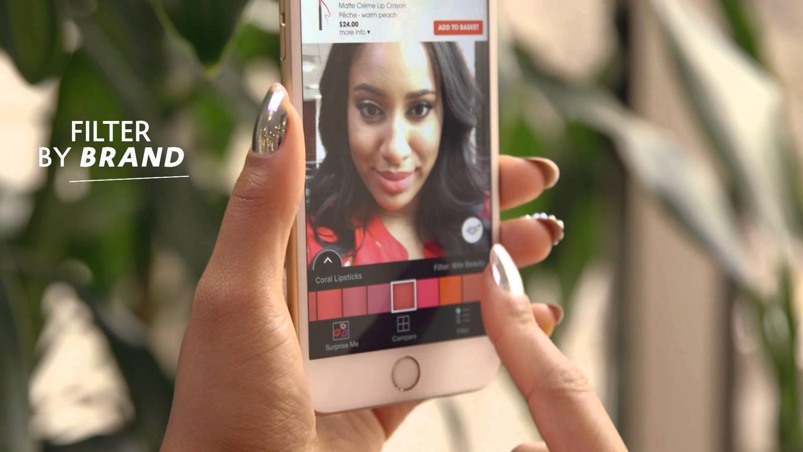 L'aplicació de realitat augmentada de Sephora