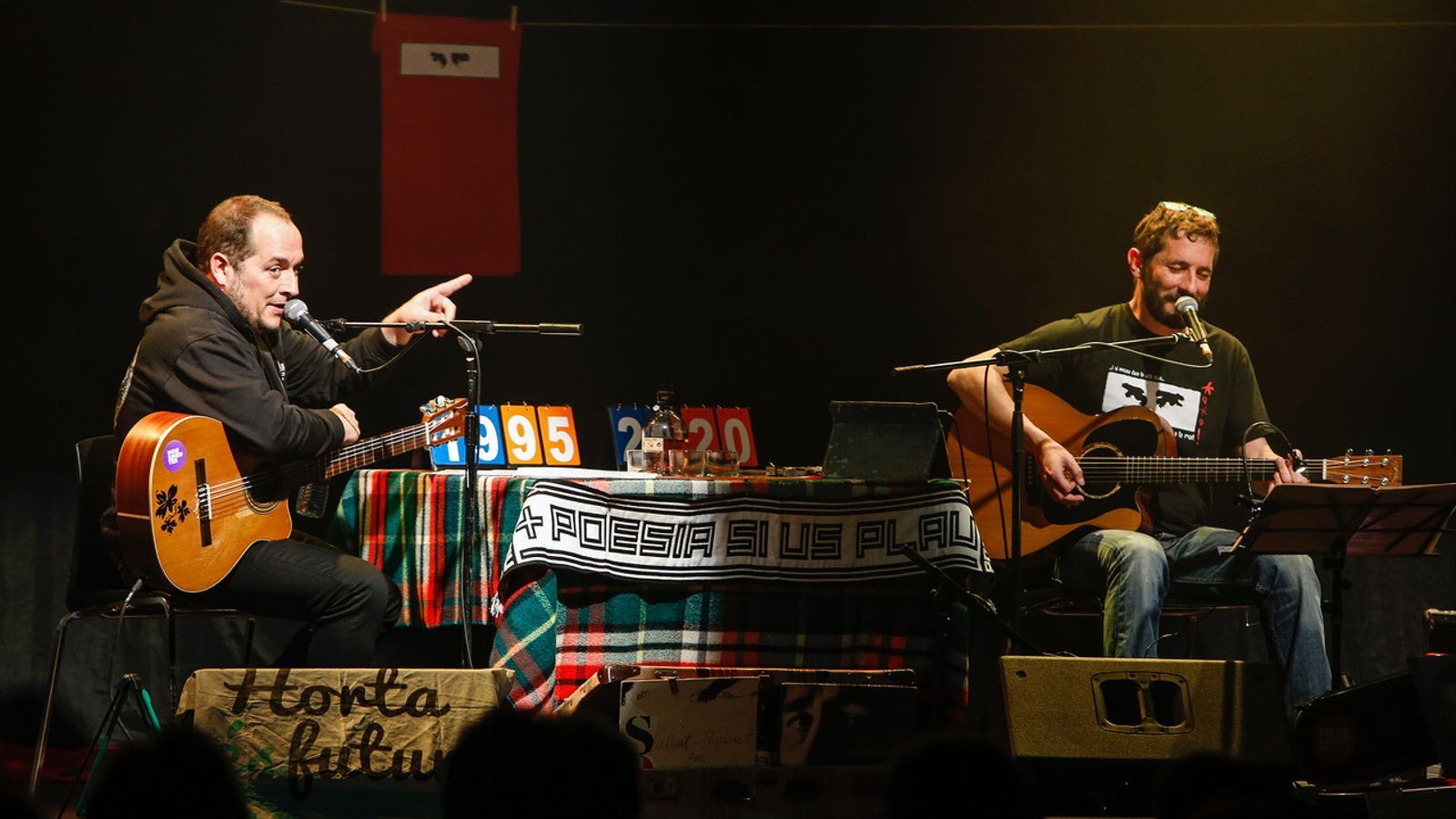 David Fernàndez i Borja Penalba durant el concert d'Ovidi 25