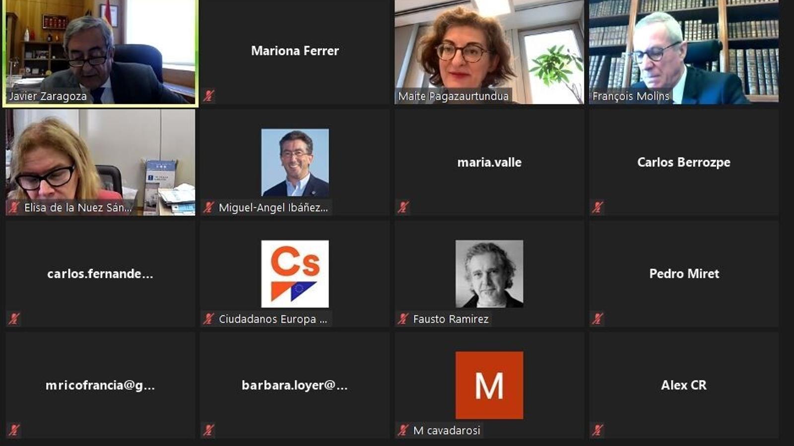 Webinar organitzat per Ciutadans amb el fiscal Javier Zaragoza.