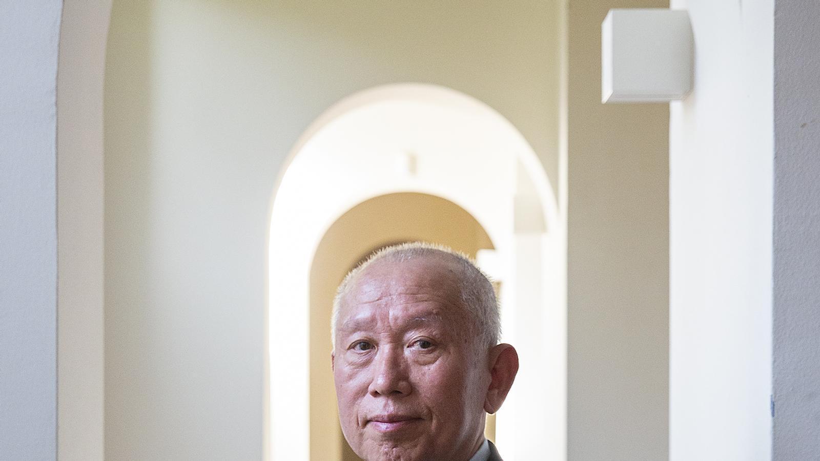 El professor emèrit de la Universitat Xinesa de Hong Kong, Shaoguang Wang, va ser a Barcelona en un seminari del Cidob.