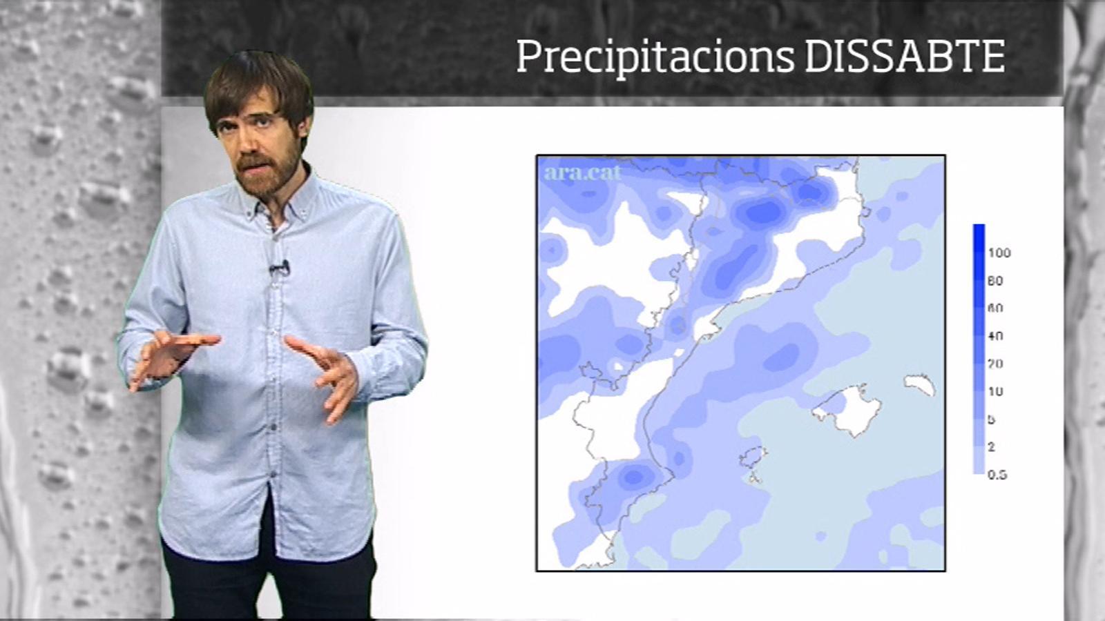 La méteo en 1 minut: cap de setmana amb sol, xàfecs i canvis de temperatura