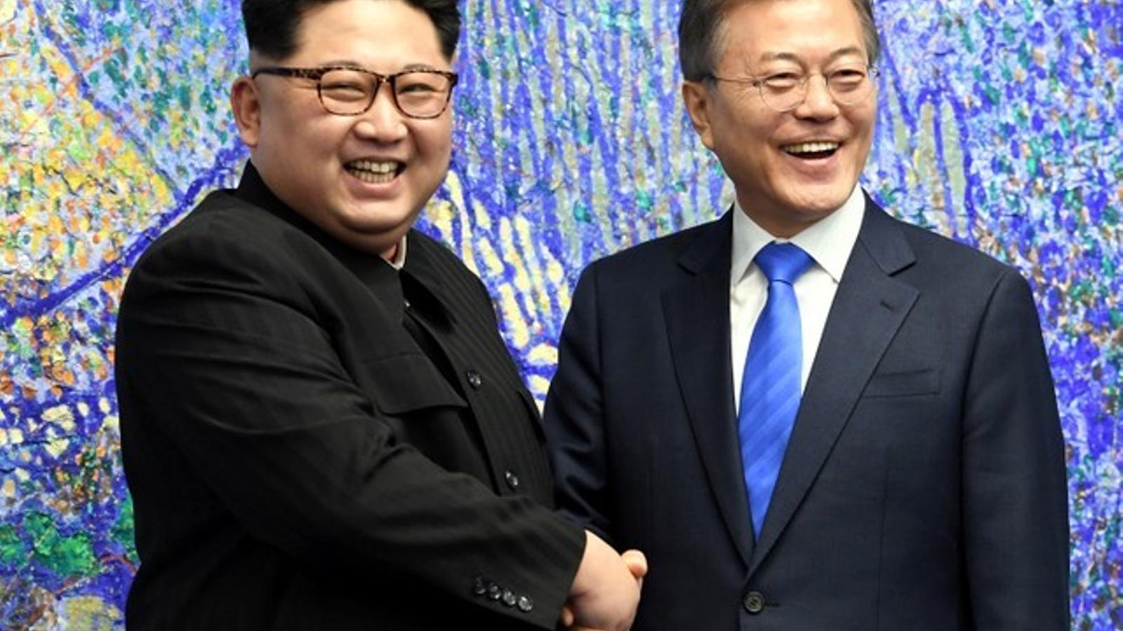 Kim Jong-un i Moon Jae-in, una reunió per a la història