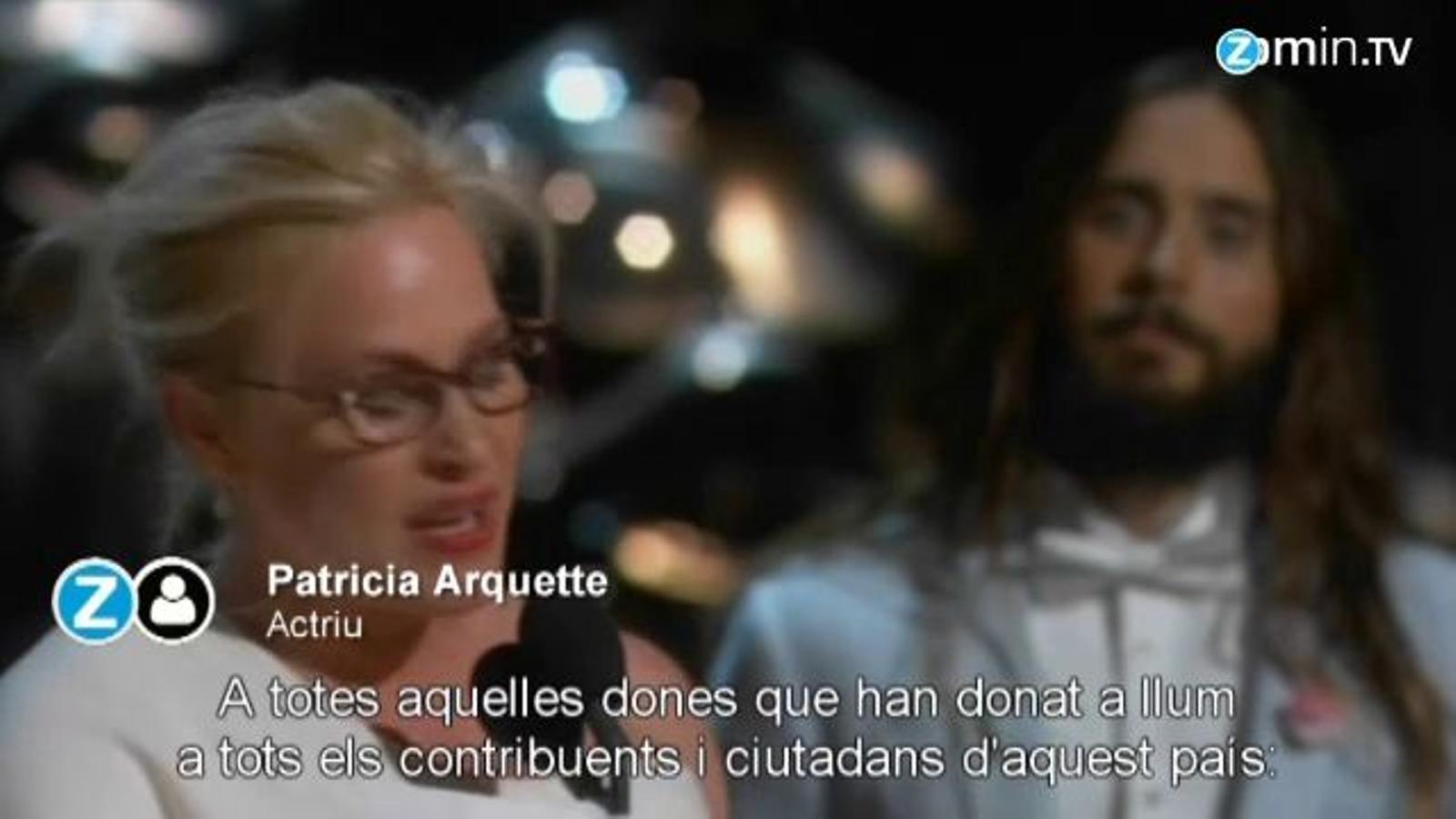 El discurs de Patricia Arquette en recollir el seu Oscar per 'Boyhood'