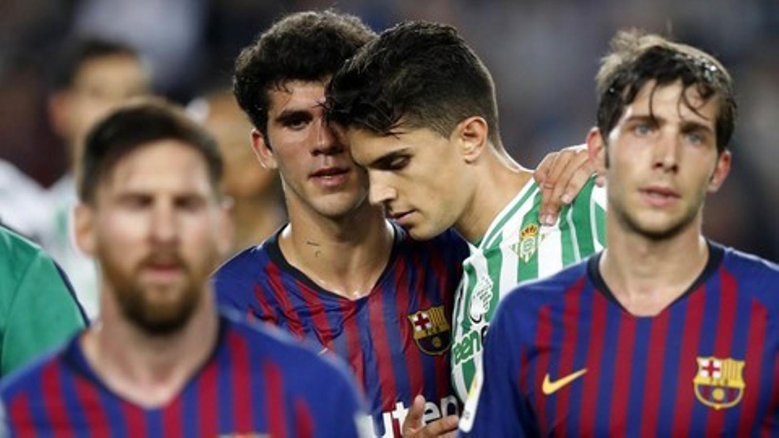 Messi, Sergi Roberto, Aleñá i Bartra van formar-se a la Masia