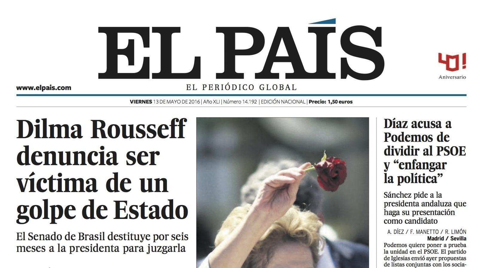 Portada d''El País'