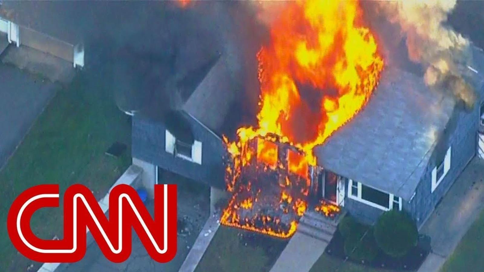 Incendis arran d'explosions de gas a Massachusetts, als Estats Units