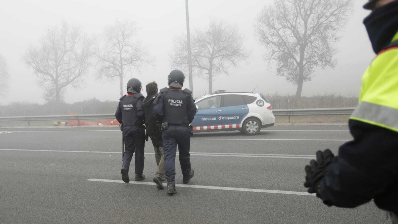 Quatre detinguts en les mobilitzacions del 21-F